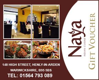 Naya Restaurant Gift Vouchers